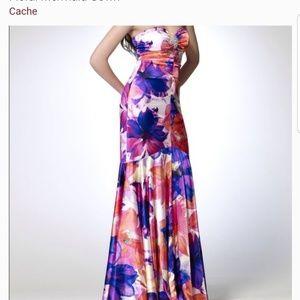 Cache Multicolor Floral Dress